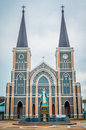 The cathedral of the immaculate conception most beutiful catholic church in thailand Stock Photography