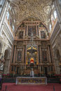 Cathedral insite the mezquita in Cordoba Royalty Free Stock Photo