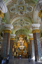 Cathedral interior in Peter and Paul fortress Royalty Free Stock Photo