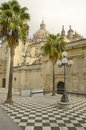 Cathedral in Jerez Stock Images
