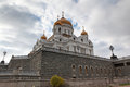 Cathedral of jesus christ the saviour moscow russia in Royalty Free Stock Photos