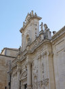 Cathedral of lecce in italy a detail the apulia Royalty Free Stock Photography