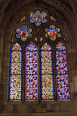 Cathedral of leon spain glass wall gothic castilla Royalty Free Stock Photography