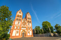 Cathedral limburg an der lahn is well known for its st georgs and its full set of nearly unscathed medieval buildings Stock Image