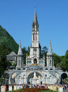 The cathedral of lourdes in france Stock Photos