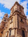 Cathedral in malaga spain the of the incarnation andalusia Royalty Free Stock Image