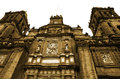 Cathedral metropolitan in the zocalo of mexico city Royalty Free Stock Photography