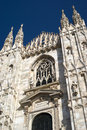 Cathedral in milan the gothic facade of Stock Photography