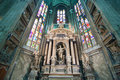 Cathedral in milan inside duomo of italy Royalty Free Stock Photography