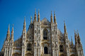 Cathedral milan s is one of the largest churches in the world Stock Images