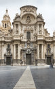 Cathedral in murcia spain front view of Royalty Free Stock Image