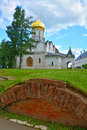 Cathedral of the Nativity of the Virgin in Savvino-Storozhevsky man's monastery in Zvenigorod, Russia Royalty Free Stock Photo