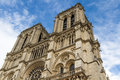 Cathedral notre dame de paris france Stock Images