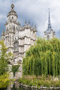Cathedral notre dame evreux picture of the in the town france Stock Image