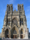 Cathedral Notre-Dame of Reims Stock Images