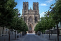 Cathedral notre dame in reims france Royalty Free Stock Images