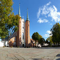 Cathedral in Oliwa Stock Images