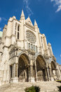 Cathedral of our lady of chartres cathédrale notre dame de cha front france Royalty Free Stock Photos