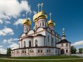 Cathedral of our lady of the iberian valday iversky monastery in valdai russia russian orthodox church Stock Image