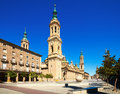 Cathedral of our lady of the pillar in sunny day zaragoza aragon Royalty Free Stock Images