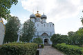 Cathedral of our lady of smolensk novodevichiy convent the in new maiden s moscow russia Royalty Free Stock Images
