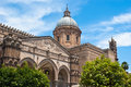 Cathedral of palermo sicily italy detail the Royalty Free Stock Images