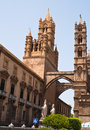 Cathedral of palermo sicily italy detail the Stock Photos