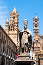 Cathedral of palermo sicily italy detail the Royalty Free Stock Photo