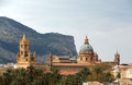 Cathedral of palermo the typical skyline the sicily with the dome by the architect ferdinando fuga xviii century Royalty Free Stock Photo