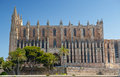 Cathedral of palma de majorca la seu in mallorca spain balearic islands Royalty Free Stock Photo