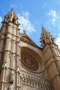 Cathedral in Palma, front view Royalty Free Stock Photo