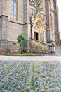 Cathedral perspective view of a facade Royalty Free Stock Photography