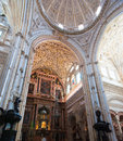 Cathedral placed centre mezquita old mosque cordoba spain Royalty Free Stock Image