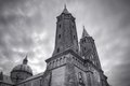 Cathedral in plock poland hdr image Royalty Free Stock Photos