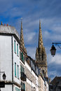 Cathedral of quimper in brittany Royalty Free Stock Photos
