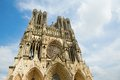 Cathedral of reims champagne france Stock Photos
