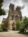 Cathedral of reims in france Stock Photography