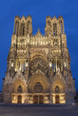 Cathedral of reims marne champagne ardenne france Stock Images