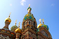 Cathedral of the resurrection on spilled blood church of our sa savior in st petersburg russia Royalty Free Stock Images