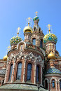 Cathedral of the resurrection on spilled blood church of our sa savior in st petersburg russia Royalty Free Stock Photography