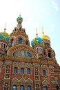 Cathedral of the resurrection on spilled blood church of our sa savior in st petersburg russia Royalty Free Stock Image