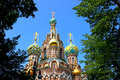 Cathedral of the resurrection on spilled blood in st petersburg church our savior Royalty Free Stock Photo
