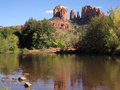 Cathedral rock near sedona arizona view of and oak creek Stock Photos