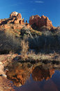 Cathedral rock reflection of in sedona Royalty Free Stock Photos