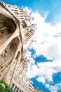 Cathedral sagrada familia barcelona spain july on july la the impressive designed by gaudi which is being build Royalty Free Stock Photo