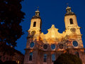 Cathedral saint jacob innsbruck austria in in Royalty Free Stock Image