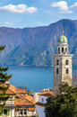 The Cathedral of Saint Lawrence in Lugano Royalty Free Stock Photo