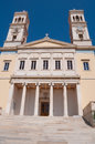 The Cathedral of Saint Nicholas, Ermoupolis (Greece) Royalty Free Stock Images