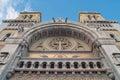 The cathedral of saint vincent de paul built in in center tunis in tunisia for catholic faithful arab origin Stock Photos