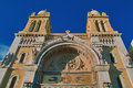 The cathedral of saint vincent de paul built in in center tunis in tunisia for catholic faithful arab origin Royalty Free Stock Photography